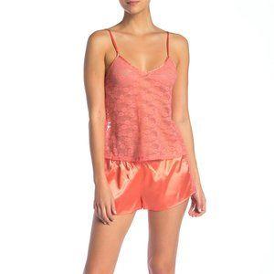 Curvy Couture Lace & Satin Pajama 2-Piece Set 3XL